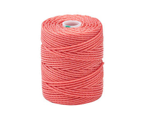 C-Lon Tex 400 Heavy Weight Bead Cord, Chinese Coral - 1.0mm, 36 Yard Spool - Barrel of Beads