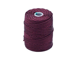 C-Lon Tex 400 Heavy Weight Bead Cord, Eggplant - 1.0mm, 36 Yard Spool - Barrel of Beads