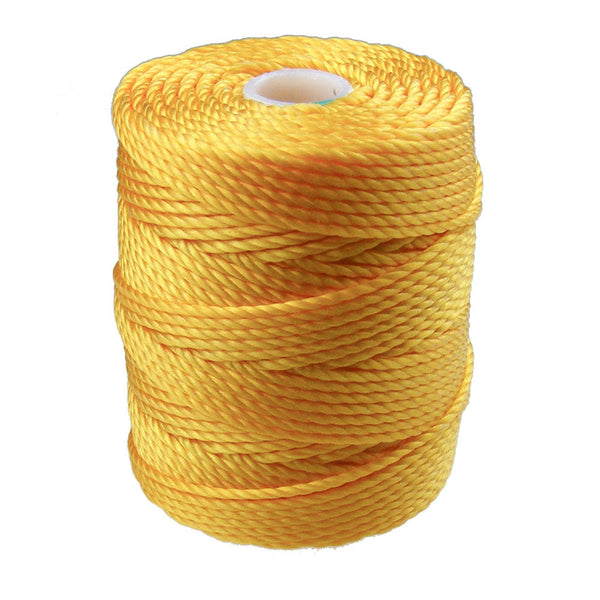 C-Lon Tex 400 Heavy Weight Bead Cord, Golden Yellow - 1.0mm, 36 Yard Spool - Barrel of Beads