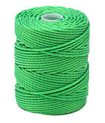 C-Lon Tex 400 Heavy Weight Bead Cord, Neon Green - 1.0mm, 36 Yard Spool - Barrel of Beads