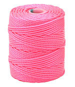 C-Lon Tex 400 Heavy Weight Bead Cord, Neon Pink - 1.0mm, 36 Yard Spool - Barrel of Beads