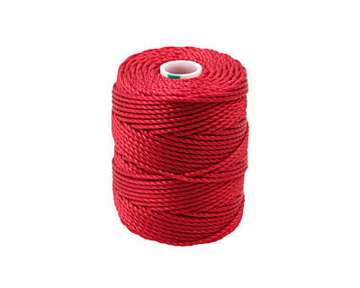 C-Lon Tex 400 Heavy Weight Bead Cord, Shanghai Red - 1.0mm, 36 Yard Spool - Barrel of Beads