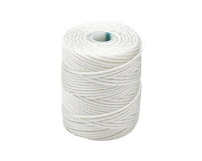 C-Lon Tex 400 Heavy Weight Bead Cord, White - 1.0mm, 36 Yard Spool - Barrel of Beads