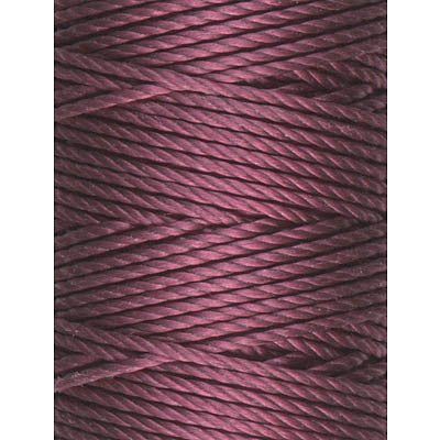 C-Lon Tex 400 Heavy Weight Bead Cord, Wine - 1.0mm, 36 Yard Spool - Barrel of Beads