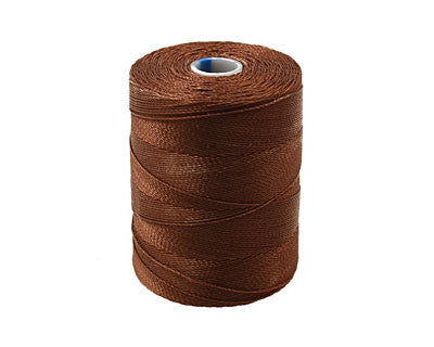 C-Lon Micro Bead Cord, Brown - 0.12mm, 320 Yard Spool - Barrel of Beads
