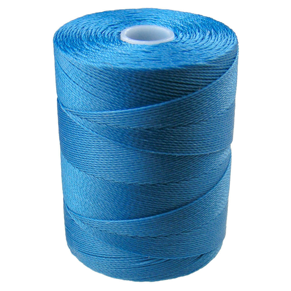 C-Lon Micro Bead Cord, Caribbean Blue - 0.12mm, 320 Yard Spool - Barrel of Beads