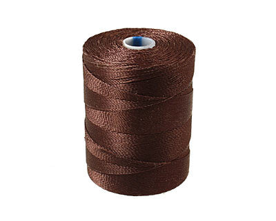 C-Lon Micro Bead Cord, Chocolate - 0.12mm, 320 Yard Spool - Barrel of Beads