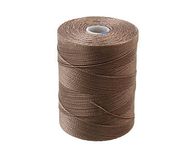 C-Lon Micro Bead Cord, Cocoa - 0.12mm, 320 Yard Spool - Barrel of Beads