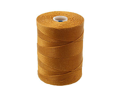 C-Lon Micro Bead Cord, Gold - 0.12mm, 320 Yard Spool - Barrel of Beads