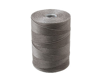C-Lon Micro Bead Cord, Gray - 0.12mm, 320 Yard Spool - Barrel of Beads