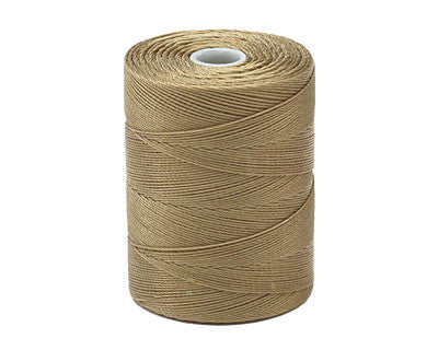 C-Lon Micro Bead Cord, Khaki - 0.12mm, 320 Yard Spool - Barrel of Beads