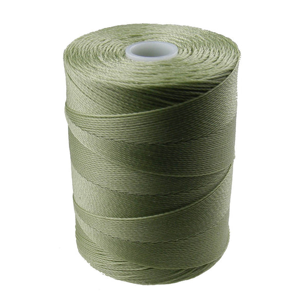 C-Lon Micro Bead Cord, Peridot - 0.12mm, 320 Yard Spool - Barrel of Beads