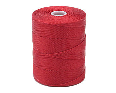 C-Lon Micro Bead Cord, Red - 0.12mm, 320 Yard Spool - Barrel of Beads