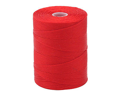 C-Lon Micro Bead Cord, Shanghai Red - 0.12mm, 320 Yard Spool - Barrel of Beads