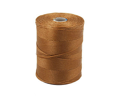 C-Lon Micro Bead Cord, Sable - 0.12mm, 320 Yard Spool - Barrel of Beads