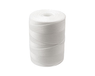 C-Lon Micro Bead Cord, White - 0.12mm, 320 Yard Spool - Barrel of Beads