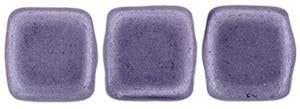 Czechmate 6mm Square Glass Czech Two Hole Tile Bead, Saturated Metallic Ballet Slipper