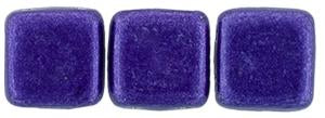 Czechmate 6mm Square Glass Czech Two Hole Tile Bead, Saturated Metallic Super Violet