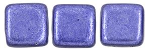 Czechmate 6mm Square Glass Czech Two Hole Tile Bead, Saturated Metallic Ultra Violet