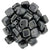 Czechmate 6mm Square Glass Czech Two Hole Tile Bead, Hematite - Barrel of Beads