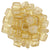 Czechmate 6mm Square Glass Czech Two Hole Tile Bead, Luster Transparent Champagne - Barrel of Beads