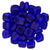 Czechmate 6mm Square Glass Czech Two Hole Tile Bead, Cobalt - Barrel of Beads