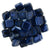 Czechmate 6mm Square Glass Czech Two Hole Tile Bead, Mirror Denim - Barrel of Beads