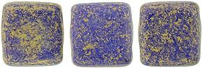 Czechmate 6mm Square Glass Czech Two Hole Tile Bead, Elderberry Pacifica