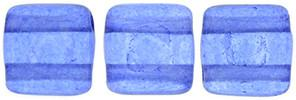 Czechmate 6mm Square Glass Czech Two Hole Tile Bead, Colortrends:Transparent Riverside