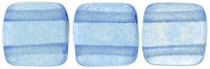 Czechmate 6mm Square Glass Czech Two Hole Tile Bead, Colortrends:Transparent Airy Blue