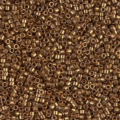Miyuki Delica Bead 11/0 - DB0022L - Metallic Light Bronze - Barrel of Beads