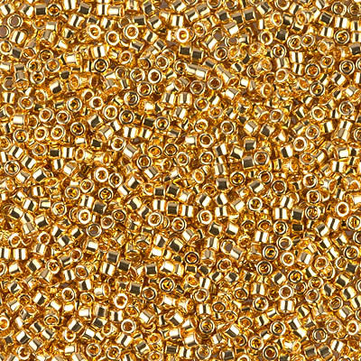 Miyuki Delica Bead 11/0 - DB0031 - 24kt Gold Plated - Barrel of Beads