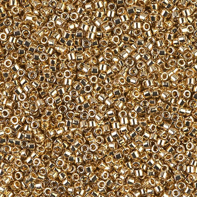Miyuki Delica Bead 11/0 - DB0034 - 24kt Gold Light Plated - Barrel of Beads