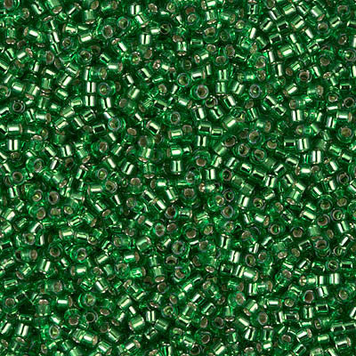 Miyuki Delica Bead 11/0 - DB0046 - Silver Lined Green - Barrel of Beads