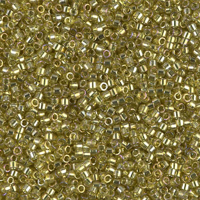 Miyuki Delica Bead 11/0 - DB0124 - Transparent Golden Olive Luster - Barrel of Beads