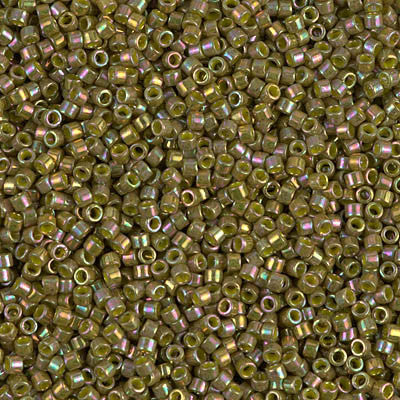 Miyuki Delica Bead 11/0 - DB0133 - Opaque Golden Olive Luster - Barrel of Beads