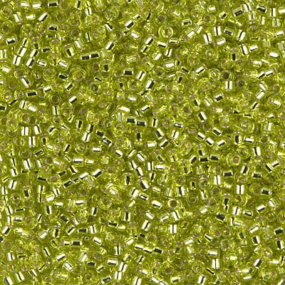 Miyuki Delica Bead 11/0 - DB0147 - Silver Lined Chartreuse - Barrel of Beads