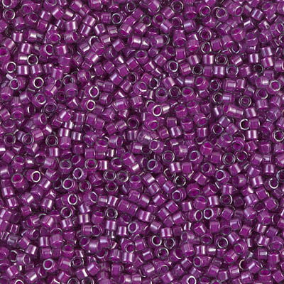 Miyuki Delica Bead 11/0 - DB0281 - Fuchsia Lined Crystal Luster - Barrel of Beads
