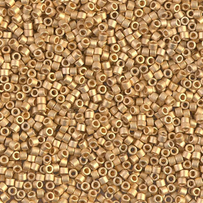 Miyuki Delica Bead 11/0 - DB0331 - Matte 24kt Gold Plated - Barrel of Beads