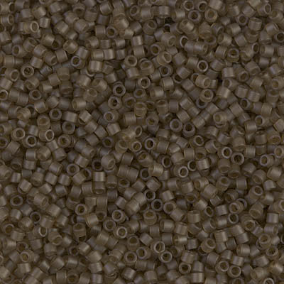 Miyuki Delica Bead 11/0 - DB0384 - Matte Transparent Smoky Quartz Luster - Barrel of Beads