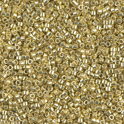 Miyuki Delica Bead 11/0 - DB0412 - Galvanized Yellow - Barrel of Beads