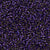 Miyuki Delica Bead 11/0 - DB0609 - Dyed Silver Lined Dark Purple - Barrel of Beads
