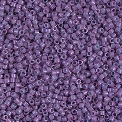 Miyuki Delica Bead 11/0 - DB0660 - Dyed Opaque Dark Orchid - Barrel of Beads