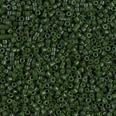 Miyuki Delica Bead 11/0 - DB0663 - Dyed Opaque Olive - Barrel of Beads