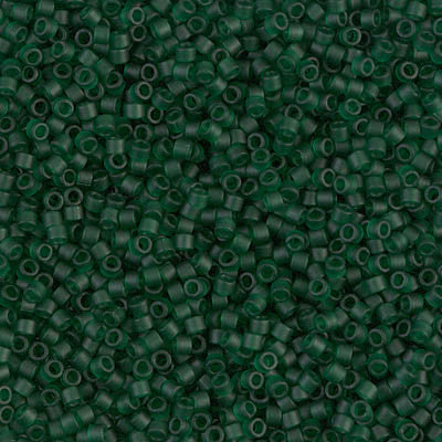 Miyuki Delica Bead 11/0 - DB0767 - Matte Transparent Dark Emerald - Barrel of Beads