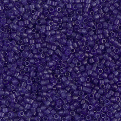 Miyuki Delica Bead 11/0 - DB0785 - Dyed Semi-Frosted Transparent Cobalt - Barrel of Beads