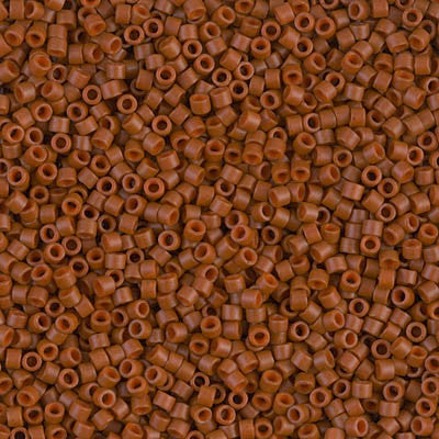Miyuki Delica Bead 11/0 - DB0794 - Dyed Semi-Frosted Opaque Sienna - Barrel of Beads