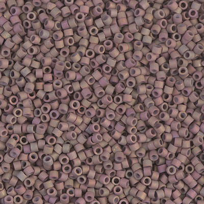 Miyuki Delica Bead 11/0 - DB1061 - Matte Metallic Dusky Clay AB - Barrel of Beads