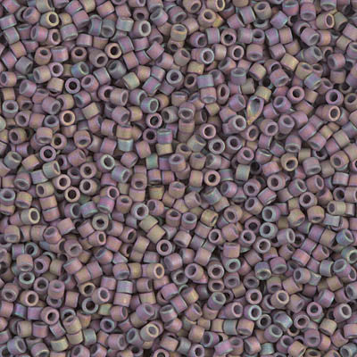 Miyuki Delica Bead 11/0 - DB1067 - Matte Metallic Thistle Gold Iris - Barrel of Beads