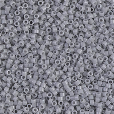 Miyuki Delica Bead 11/0 - DB1139 - Opaque Ghost Gray - Barrel of Beads
